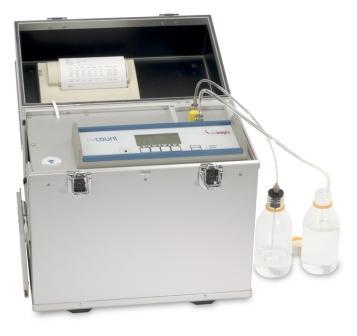 Апарат за броене на частици в горива и масла