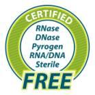 Стерилните накрайници се доставят със сертификат за апирогенност,   RNA/DNA-free
